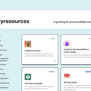 a11yresources - Büyüyen bir erişilebilirlik araçları ve kaynakları listesi