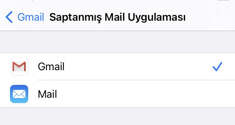 Gmail iOS14 Saptanmış Mail Uygulaması
