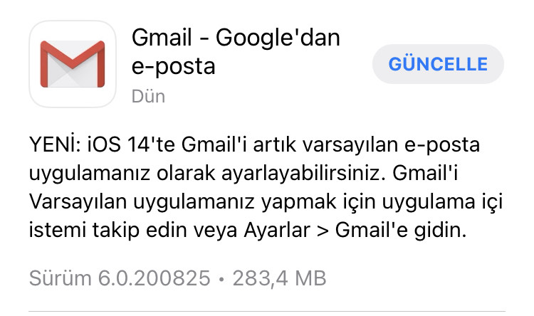 gmail-ios14 - Gmail iOS14 Saptanmış Mail Uygulaması