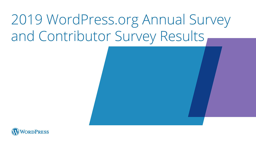 WordPress.org 2019 Annual Survey