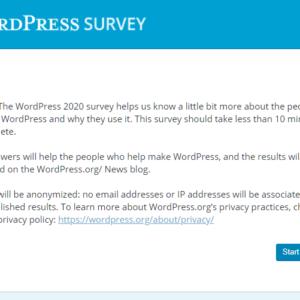 WordPress 2020 Survey