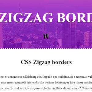 CSS Zigzag borders