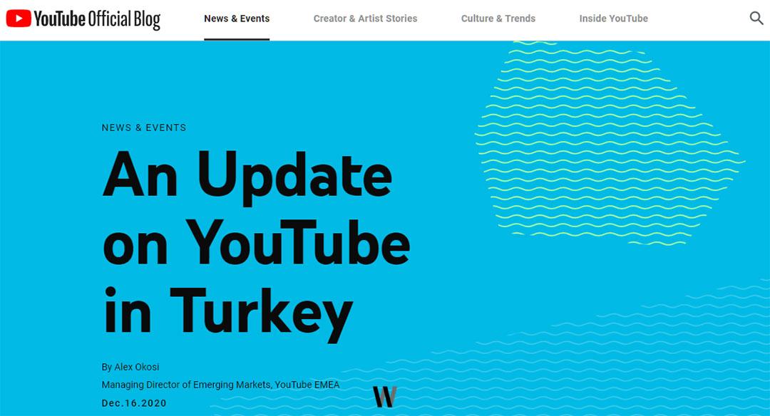 An Update on YouTube in Turkey - Youtube
