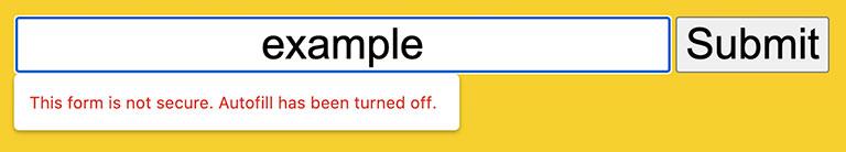 Google güvenli olmayan formlarda bildirim.