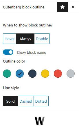 Editor Block Outline WordPress Eklentisi