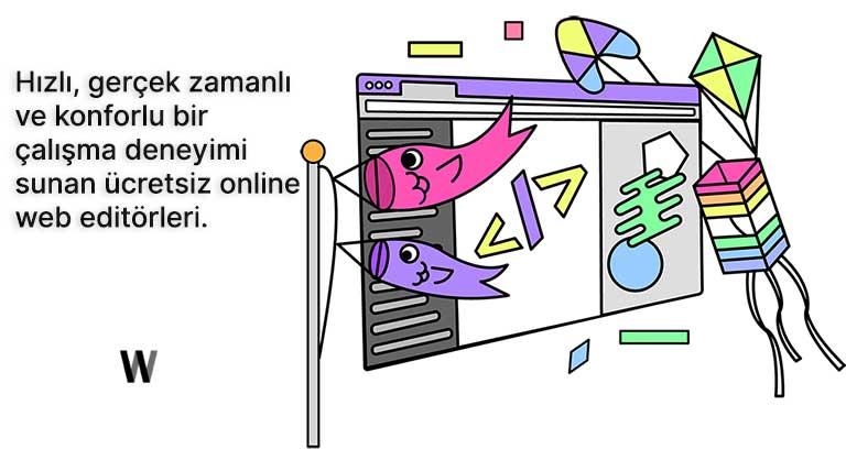 Ücretsiz online kod editörleri