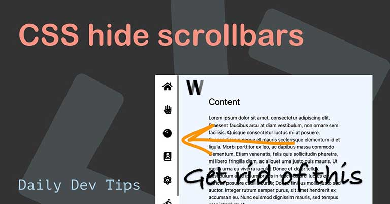 CSS hide scrollbars