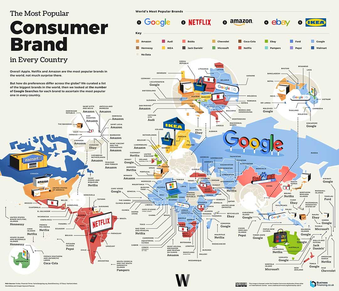 En Çok Google Araması Olan Tüketici Markaları