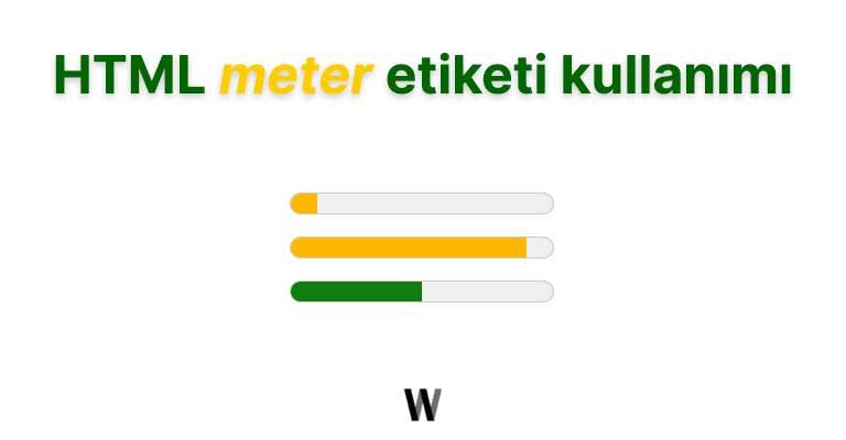 HTML metre tag kullanımı