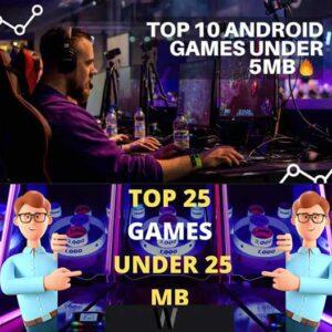 Boyutu küçük en iyi Android oyunları