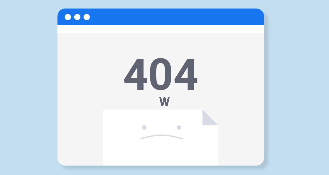 HTTP 404 Error Page