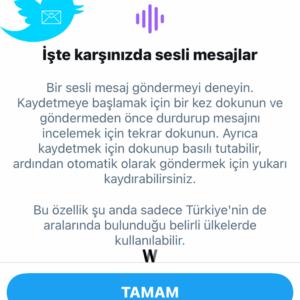 Twitter DM - Sesli Mesaj