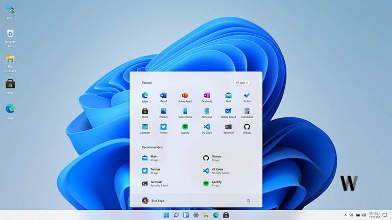 Windows 11 in React JS