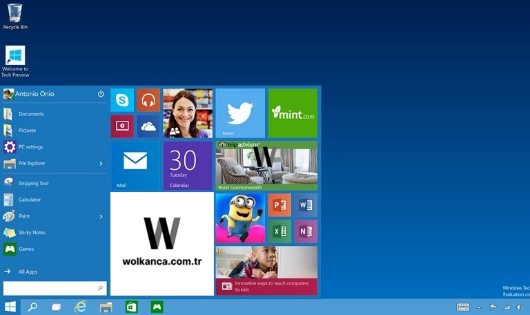 Windows 10 Başlangıç Menü